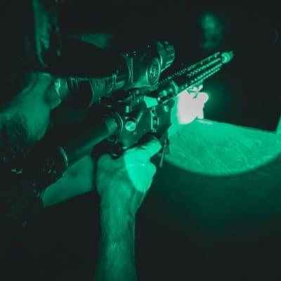 night vision hog hunting
